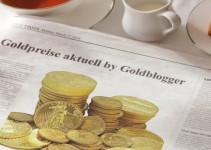 Goldpreis wird in der Zeitung angezeigt.