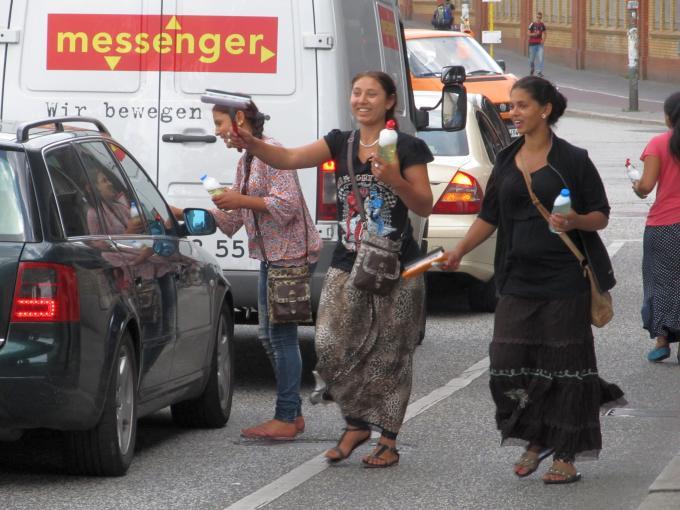 Roma auf Berlins Straßen.