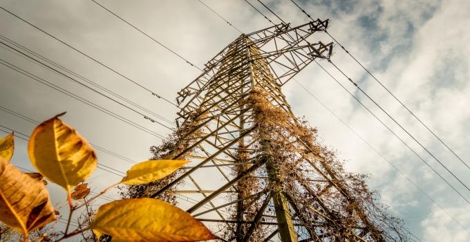 Der Strommast in der Zukunft.